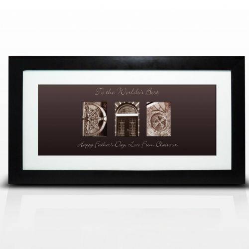 Personalised Affection Art Dad Large Frame